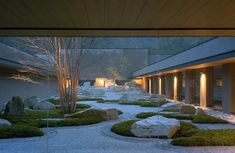Shunmyo Masuno Landscape. Hofu Crematorium. Hofu, Japan.Michael Freeman Photography.