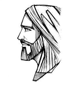 Desenho a lápis desenhado à mão de Jesus Cristo Rosto — Ilustração de Stock Jesus Christ Drawing, Jesus Drawings, Jesus Art, Pencil Drawings, Art Drawings, Catholic Art, Religious Art, Croix Christ, Jesus Sketch