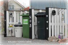Mülltonnen Verkleidung Mit Paletten Gartenideen Pinte