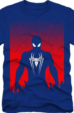 Silhouette Spider-Man T-Shirt: Marvel Comics Spider-Man Mens T-Shirt