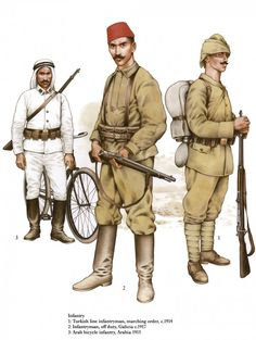 Turkish Army World War One > The Ottoman Army in World War One - uniforms, strength, organization. At the start of November 1914 Ottoman Empire joined World War One versus the Allies. Turkish Soldiers, Turkish Army, Turkish Military, World War One, First World, Elizabeth Ii, Soldier Drawing, Ww2 Weapons, Ww1 Soldiers