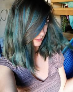 I LOOOVE it #hair #bluehair #overtone #overtonecolor #mermaid #mermaidlife