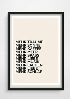 Typo poster with motivation for New Year / motvational art print fpr 2016 made by Pap-Seligkei The Words, Words Quotes, Life Quotes, Sayings, Typo Poster, German Quotes, Love Posters, Nouvel An, Love Images