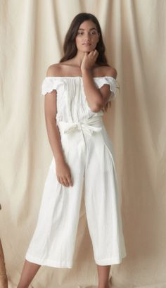 e24a4fa94d266c High waisted 3 4 length relaxed pant with tie detailing. Tie can be worn