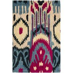 http://ak1.ostkcdn.com/images/products/8058976/8058976/Safavieh-Hand-made-Ikat-Beige-Blue-Wool-Rug-3-x-5-P15415616.jpg
