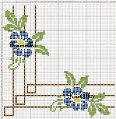Here you can look and cross-stitch your own flowers. Cross Stitch Borders, Cross Stitch Rose, Cross Stitch Flowers, Cross Stitch Charts, Cross Stitch Designs, Cross Stitching, Cross Stitch Embroidery, Embroidery Patterns, Hand Embroidery