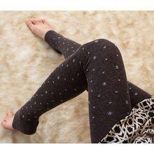 Little Flower - Snowflake Print Stirrup Leggings