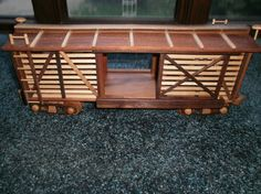 Cattle Train Car Wooden Collectible by wisconsinwoodchuck on Etsy