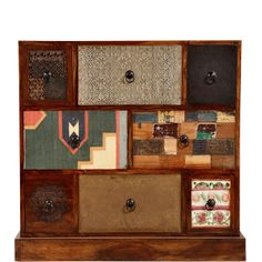Ajándékötlet: MASALA szekrény 8 fiókkal patchwork mintával a Butlerstől