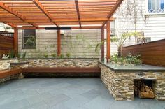 contemporary patio by Alex Amend Photography...what a great space for a party!