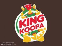 King Koopa T-Shirt - Designed by dann #tshirt #tee #art #fashion #clothing #apparel #nintendo