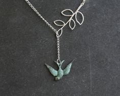 Free Gift includedUnique Silver Leaf Branch by tyrahandmadejewelry