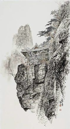 Oriental, Cool Art, Nice Art, Chinese Landscape, A Level Art, China, Chinese Painting, Landscape Paintings, Beautiful Pictures