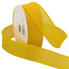 Morex Ribbon Burlap Wired Ribbon 112Inch by 10Yard Spool Bright Yellow *** Read more reviews of the product by visiting the link on the image.Note:It is affiliate link to Amazon.