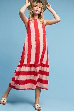 NORBLACK NORWHITE Ikat Striped Dress