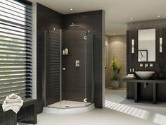 "Fleurco Platinum Neo 36"" x 36"" Neo-Angle Shower Door- Glass to Glass Hinges PNA36 $1,129.60"