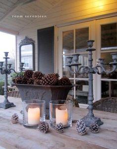 Garden room with veranda December (Room Seventeen) - pauline binder - Outdoor Rooms, Outdoor Gardens, Outdoor Living, Outdoor Decor, Home Decor Inspiration, Garden Inspiration, Boxwood Garden, Shabby Chic Garden, Rustic Fall Decor