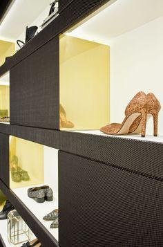 Showroom de Hannibal Laguna Shoes&Accessories en el barrio de Salamanca, Madrid.