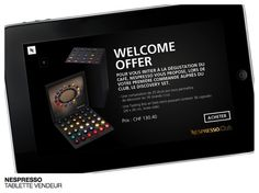 Nespresso - Tablette vendeur #tablette #POS #techno #design #commerce