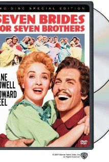 Seven Brides For Seven Brothers DVD movie video at CD Universe, Howard Keel and Jane Powell are rapturous newlyweds who tame his six rowdy bachelor brothers in the. Howard Keel, Jane Powell, Old Movies, Great Movies, 1960s Movies, See Movie, Movie Tv, Belle Disney, Vintage Movies
