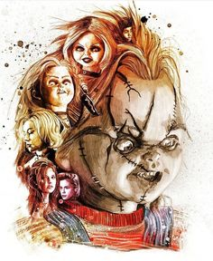 kogaionon: Childs Play for Empire Magazine by Peter. Scary Movie Characters, Scary Movies, Horror Icons, Horror Films, Chucky Movies, Childs Play Chucky, Horror Artwork, Joker Art, Horror Show