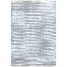 Herringbone Hand Woven Powder Blue Area Rug
