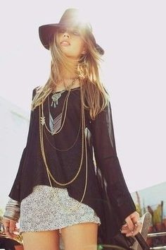 ✧ Purpose Jewelry | Chevron Necklace completes your #festival look