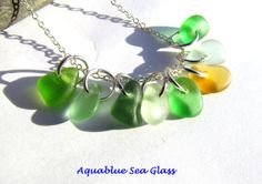 Drilled Sea Glass Charms 8 Drilled Beach by aquablueseaglass, $10.99