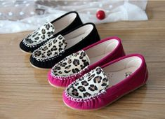 2014 NEW Kids Baby Toddler Girls Fashion Leopard Soft Leather Flat Sneaker Shoes