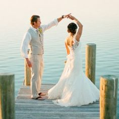 Lakeside wedding inspiration + 80's/classic rock/country playlist (KT Merry Photography)