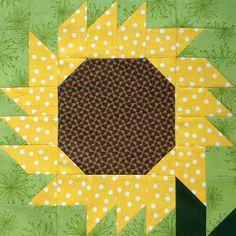 Sunflower Quilt Block