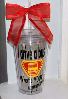 Bus Driver Gift Personalized  tumbler 16oz by dreamingdandelions, $10.00