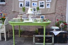Our dessert table at the party (courtesy of Emily Felts)
