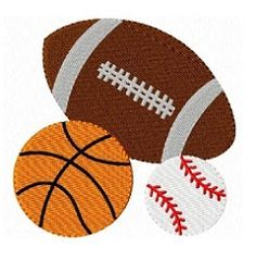 Sports Balls - 2 Sizes! | Basketball | Machine Embroidery Designs | SWAKembroidery.com
