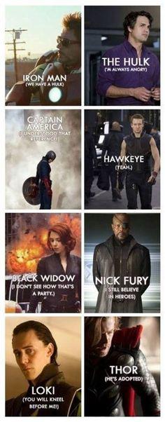 Avengers catchphrases