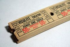 100 Vintage Theatre Tickets by burstsofcreativity on Etsy, $10.00