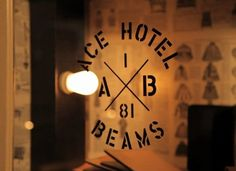 Hotel chains aren't just producing rich famous daughters anymore—no—they're now doing fashion design. A collab from the famous Ace Hotel NY and Japan label Beams sets a whole new cultural code. X Picture, Hotel Logo, Hipster Logo, Ace Hotel, Branding, Vintage Decor, Vintage Logos, Vintage Photography, Vintage Industrial