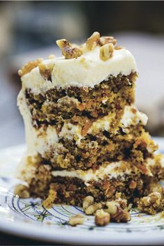 Carrotcake with Cream Cheese Frosting, Hellstrøm Baking Recipes, Cake Recipes, Russian Cakes, Norwegian Food, Sweets Cake, Cake With Cream Cheese, Pastel, Let Them Eat Cake, No Bake Cake