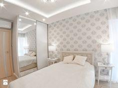 Mieszkanie - Albatross Towers Gdańsk - 74 m2 - 2016 - Mała sypialnia małżeńska, styl glamour - zdjęcie od Studio86