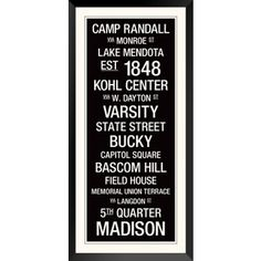 Check out this item at One Kings Lane! Wisconsin: College Town Wall Art