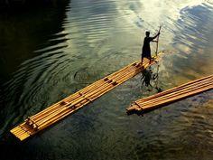 Filipinas , bamboo boat