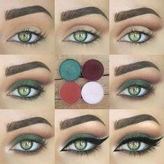 31 Pretty Eye Makeup Looks for Green Eyes Tutorial for a Green Smokey Eye (Best Skin Makeup) - Das schönste Make-up Makeup Looks For Green Eyes, Pretty Eye Makeup, Stunning Makeup, Eye Makeup Tips, Pretty Eyes, Green Eyes Makeup, Makeup Ideas, Eyemakeup For Green Eyes, Makeup Tutorials