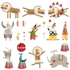 Let your imagination fly mixing up the different temporary Circus Tattoos from Londji! Perfect for animal lovers, the circus, and of Circus Carnival Party, Circus Theme, Circus Tattoo, Circus Illustration, Kids Workshop, Its A Girl Balloons, Temp Tattoo, Funny Decals, Tattoos For Kids