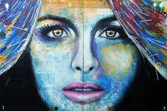 """SOUVIENS-TOI. Diptyque. Technique mixte sur toiles. 122 x 183 cm / Diptych. Mixed media on canvases. 48'' x 72"""". Août 2015, faugust. Artiste-peintre: Tone"""