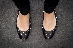 Studded mouse flats by Marc by Marc Jacobs