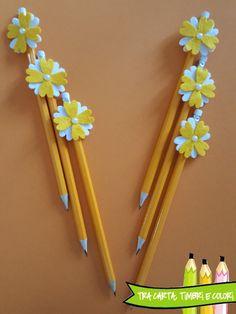 Foam Crafts, Arts And Crafts, Paper Crafts, Diy Crafts, Paper Flowers Craft, Flower Crafts, Pen Toppers, Welcome To School, Felt Dolls