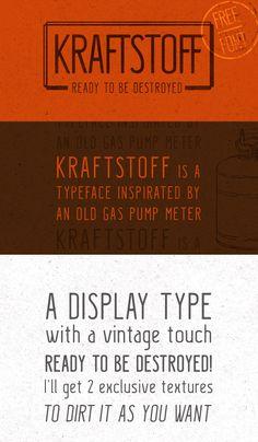 Kraftstoff Free Typeface, #Display, #Free, #Graphic #Design, #OTF, #Resource, #Sans_Serif, #Typeface, #Typography, #Vintage