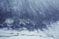昆仑山下,暴雪