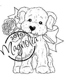 Magnolia Stamp - Raising The Ceiling Collection - Wilma With Rose
