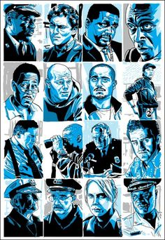 "Characters from ""The Wire"" - ""All the Pieces Matter"" - Tim Doyle"
